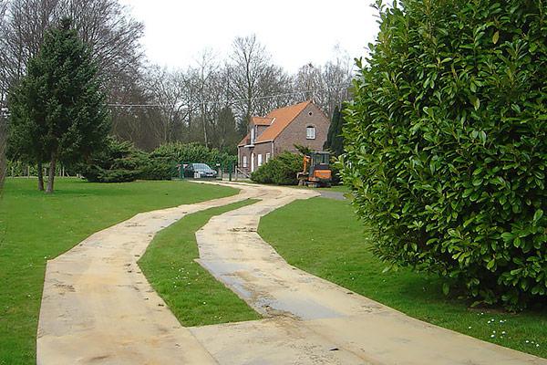 Kunststof rijplaten tuin
